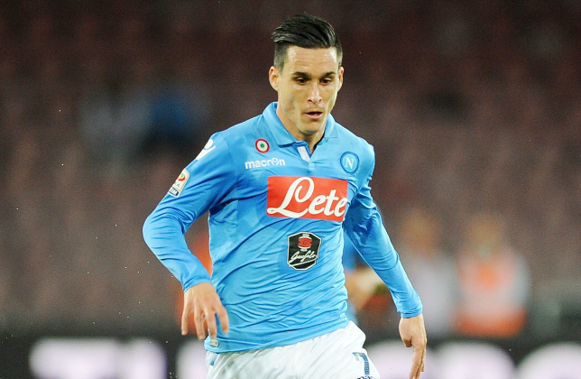 Napoli attacker Jose Callejon in action. (Getty Images)
