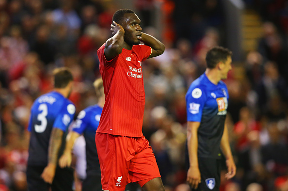 Christian Benteke while playing for Liverpool.