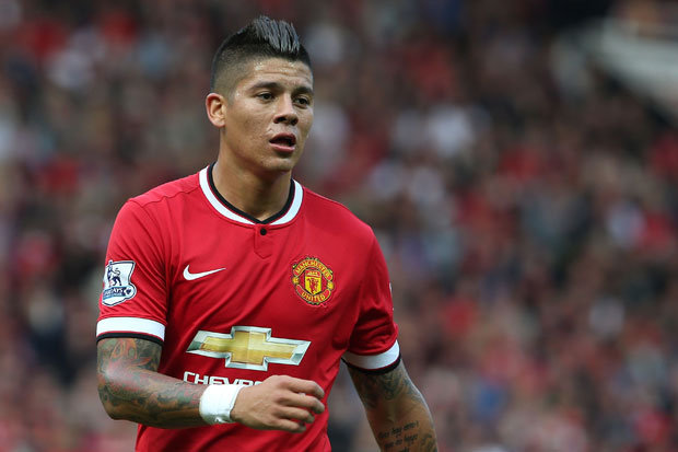 Marcos Rojo in action for Manchester United. (Getty Images)