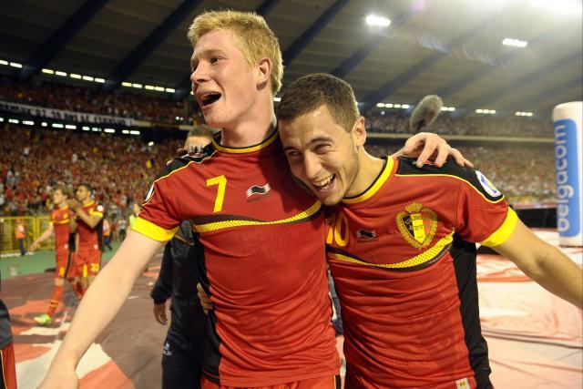 Kevin de Bruyne and Eden Hazard