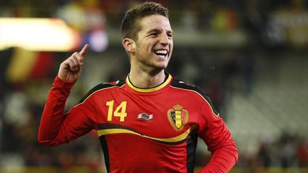 Dries Mertens in action for Belgium. (Getty Images)