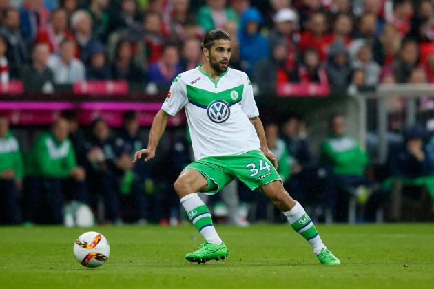 AC Milan's Ricardo Rodriguez during his Wolfsburg days