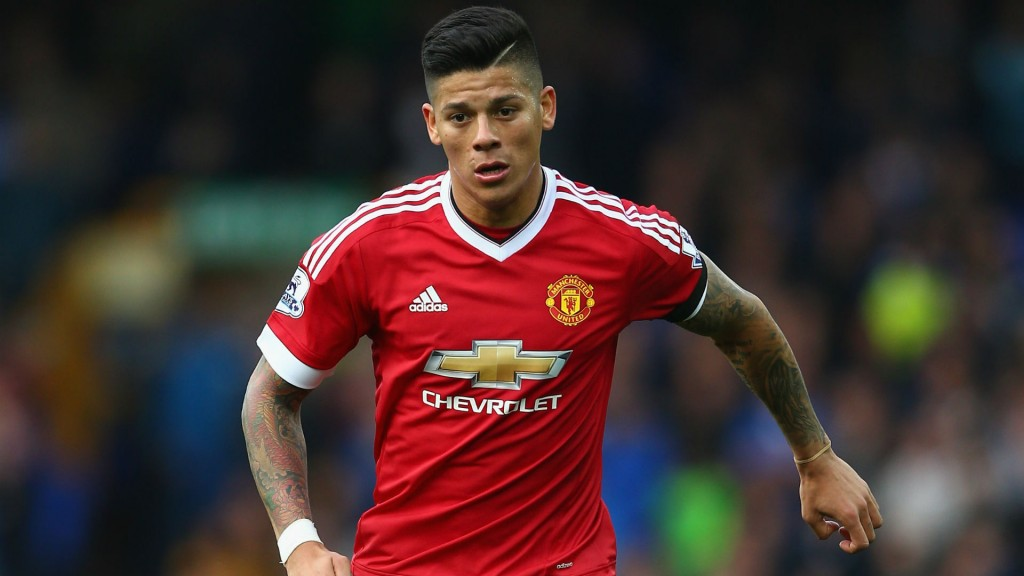 Manchester United defender Marcos Rojo in action. (Getty Images)