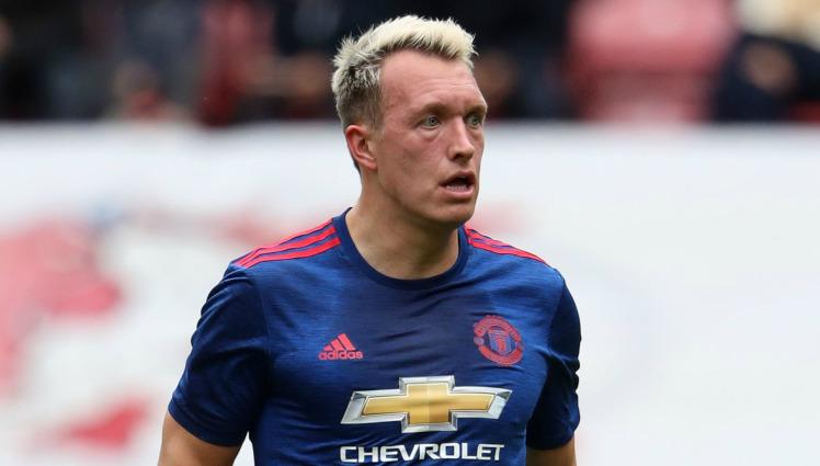 United centre-back Phil Jones.