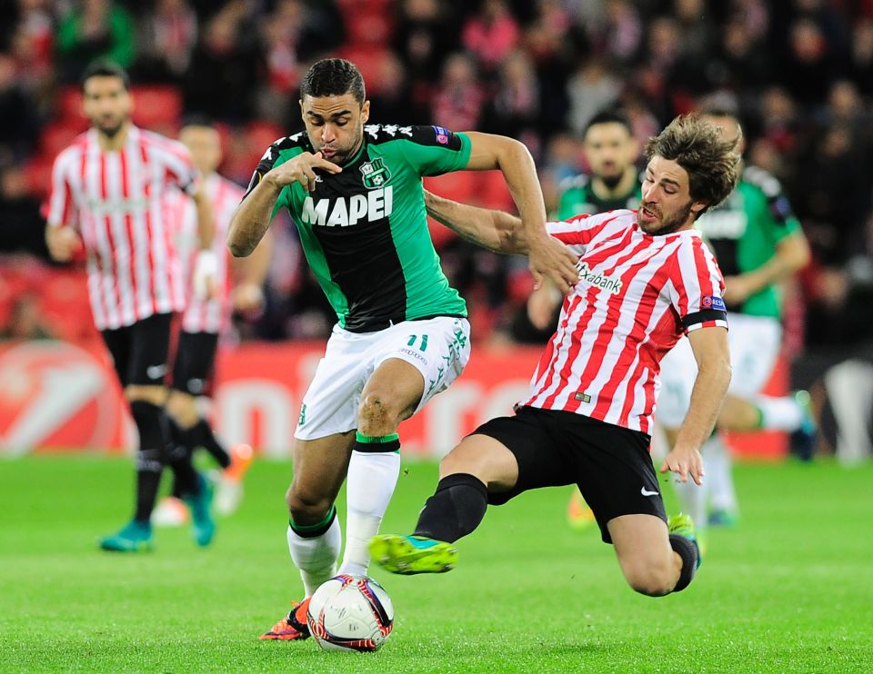 Gregoire Defrel in action for Sassuolo (Getty Images)