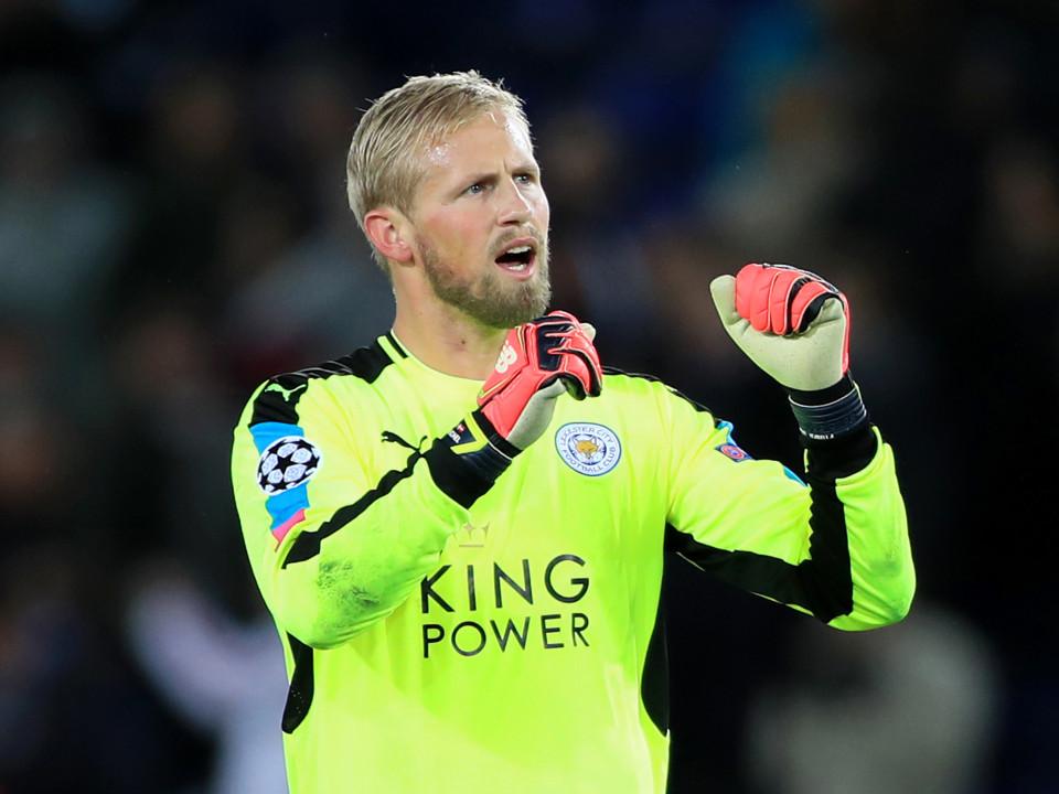 Leicester City goalkeeper Kasper Schmeichel.