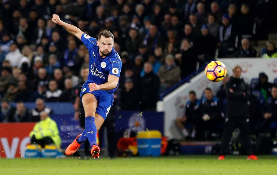 Danny Drinkwater playing for Leicester City.
