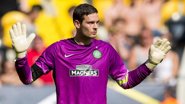 Celtic goalkeeper Craig Gordon in action. (Getty Images)