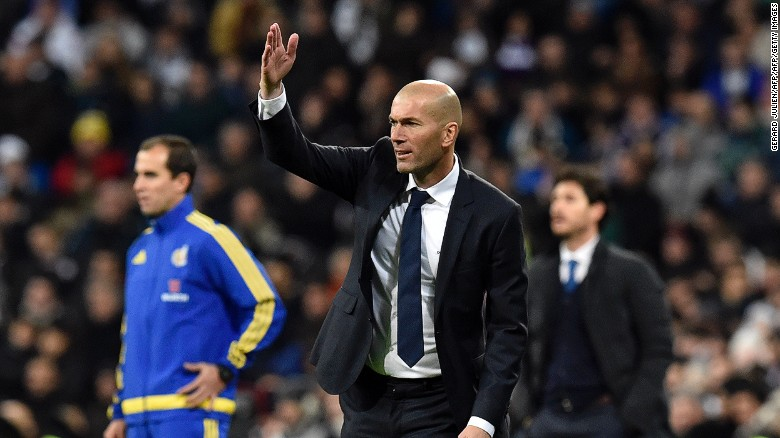 Real Madrid manager Zidane