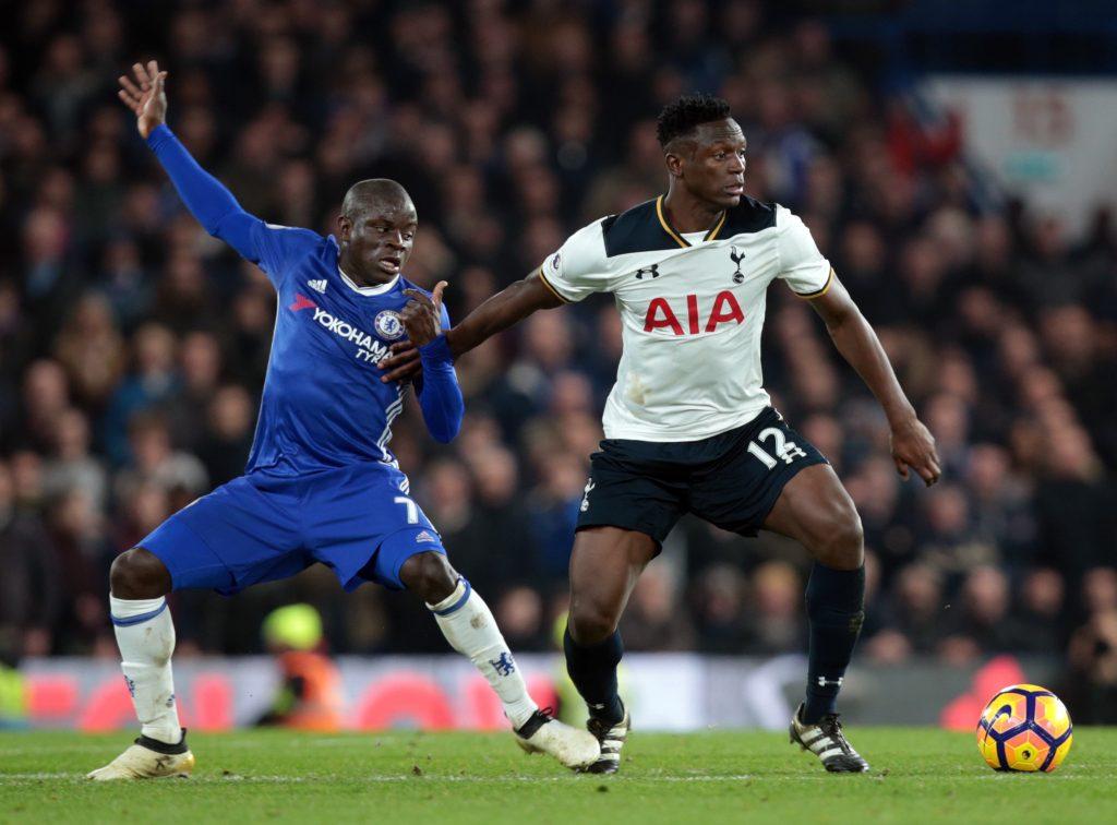 Tottenham defensive midfielder Victor Wanyama seen in action against Chelsea.