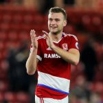 Ben Gibson applauding the Middlesbrough fans. (Getty Images)