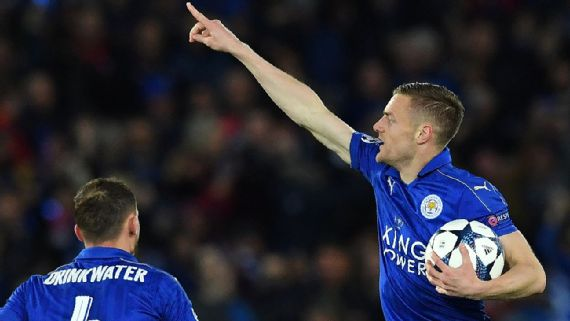 Jamie Vardy Scored For Leicester City vs Atletico Madrid