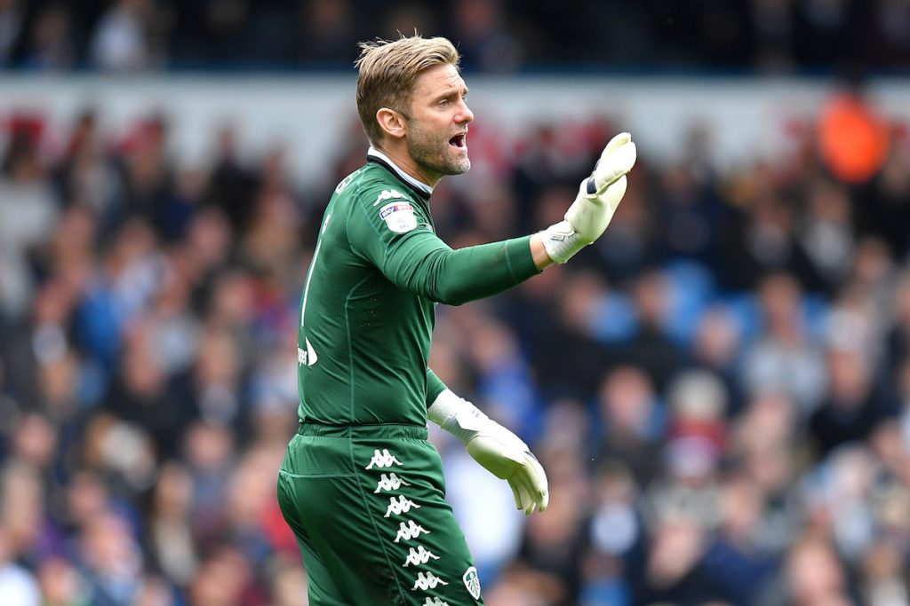 Goalkeeper Robert Green in action for Leeds United in 2017. (Getty Images)