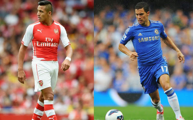 Sanchez Arsenal vs Hazard Chelsea
