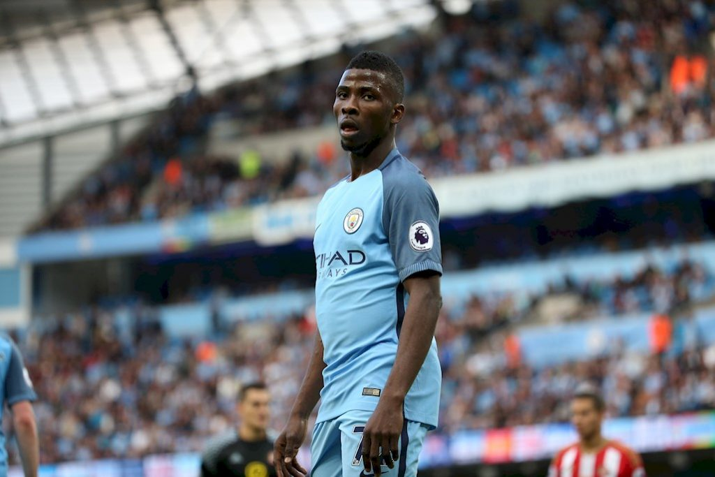 Kelechi Iheanacho during his time at Manchester City.