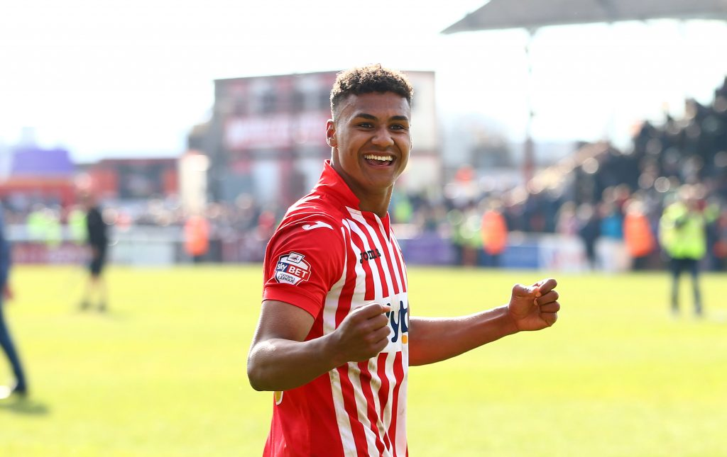 Ollie Watkins in action for Exeter City. (Getty Images)