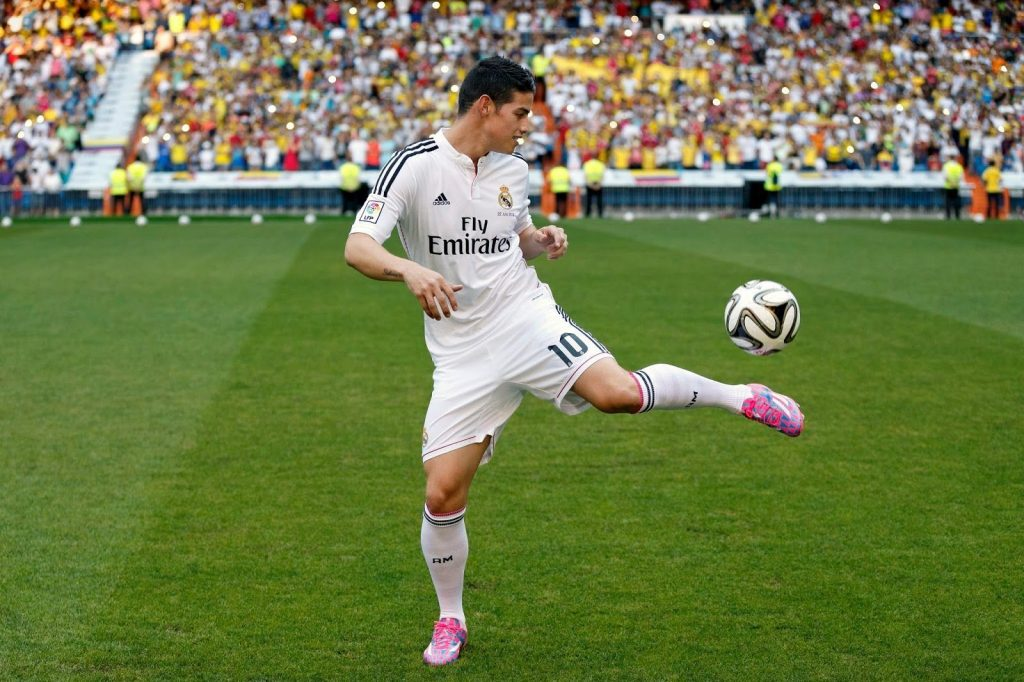 Real Madrid midfielder James Rodriguez.