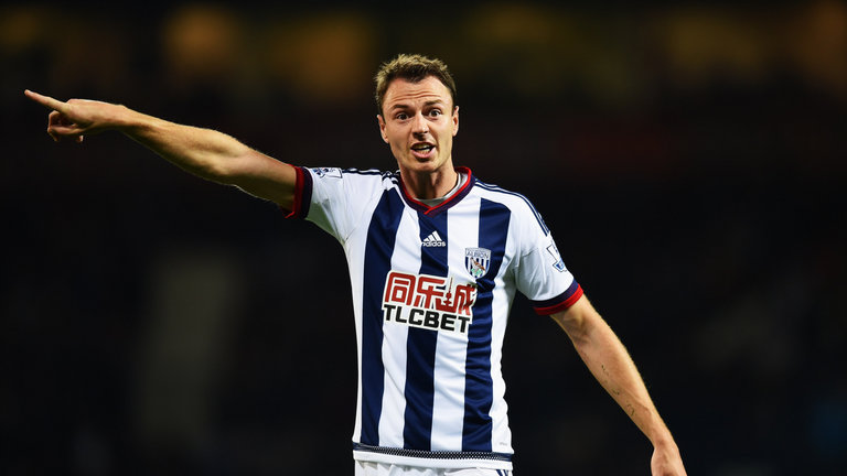 Jonny Evans during his time at West Brom. (Getty Images)
