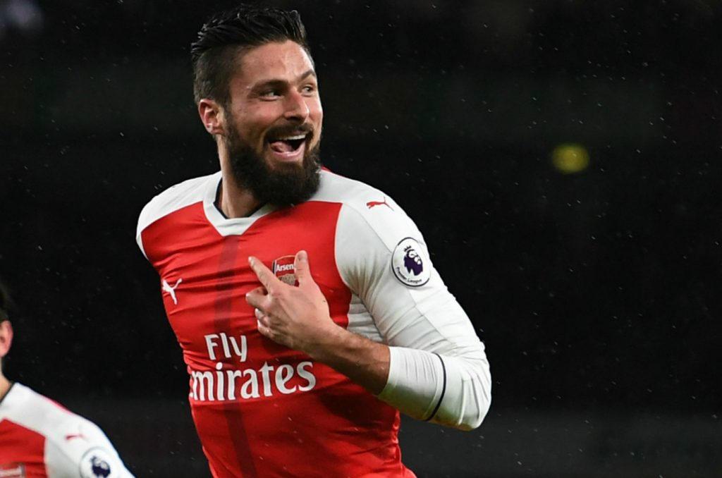 Olivier Giroud in action for Arsenal. (Getty Images)