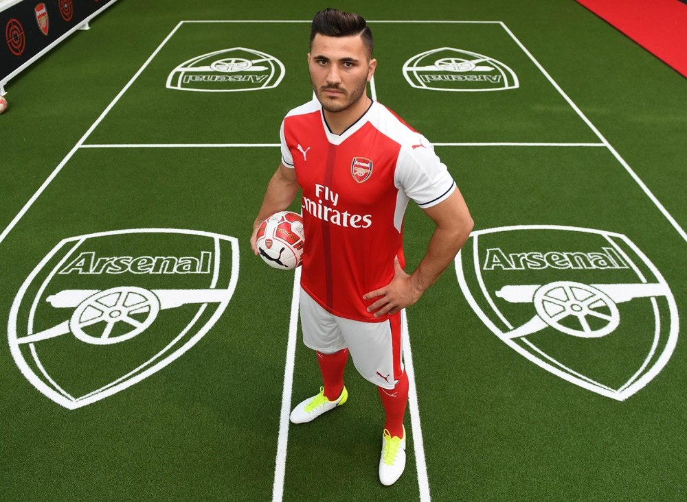 Arsenal left-back Sead Kolasinac.