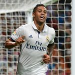 Real Madrid's Mariano Diaz celebrating a goal. (Getty Images)