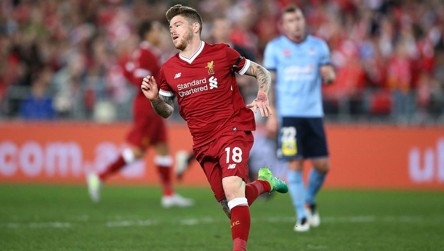 Alberto Moreno in action for Liverpool.