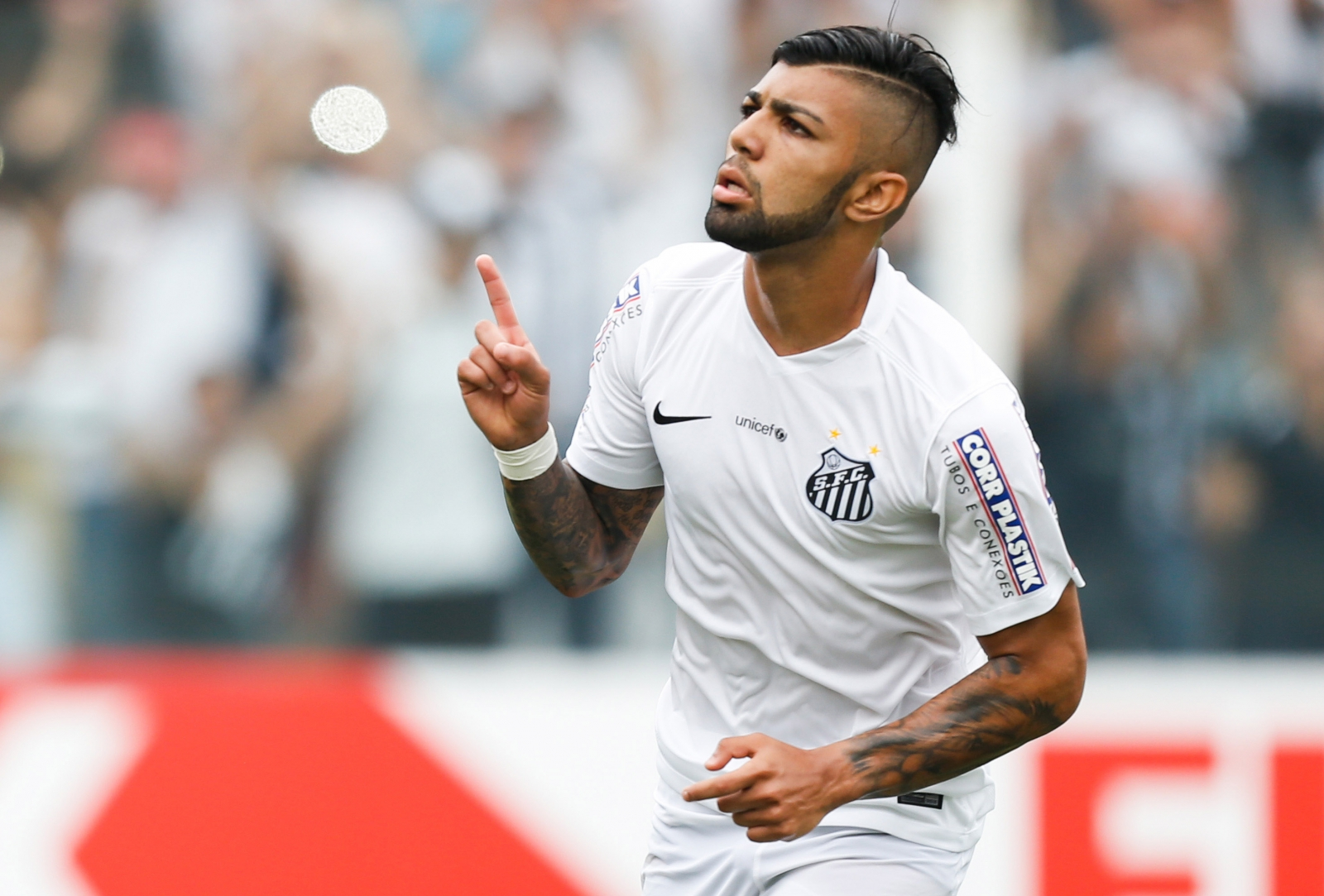 Gabriel Barbosa shone on loan at Santos from Inter Milan. (Getty Images)