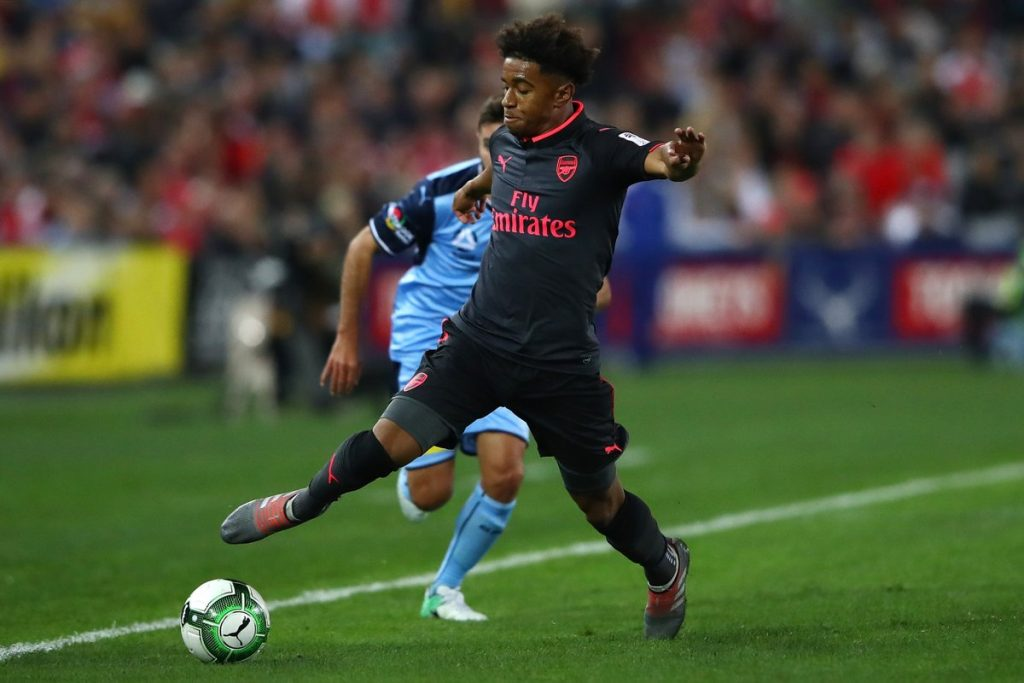 An injured Reiss Nelson will sit out as he takes time to recover from a knee injury.