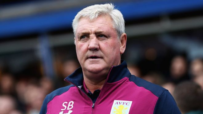 Steve Bruce during his managerial stint at Aston Villa.