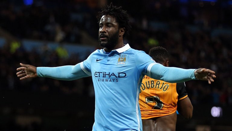 Wilfried Bony during his time at Manchester City. (Getty Images)