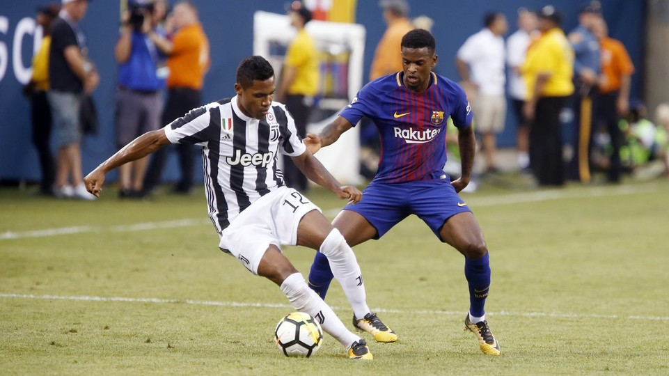 Barcelona defender Nelson Semedo in action against Juventus (Getty Images)