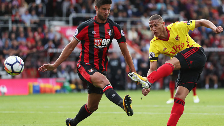 Richarlison (right) during his days with Watford.
