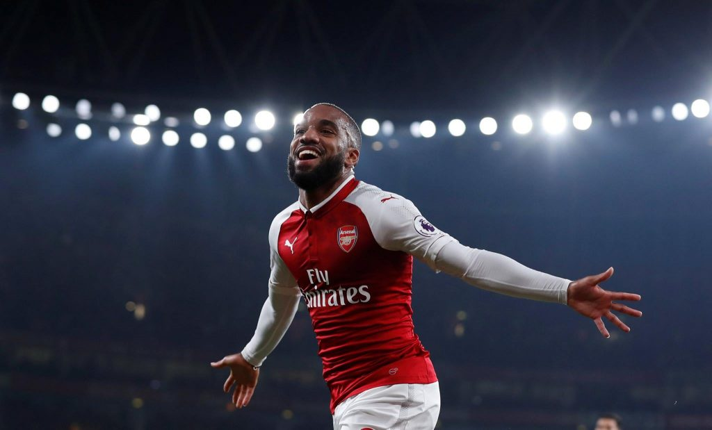 Arsenal striker Alexandre Lacazette.