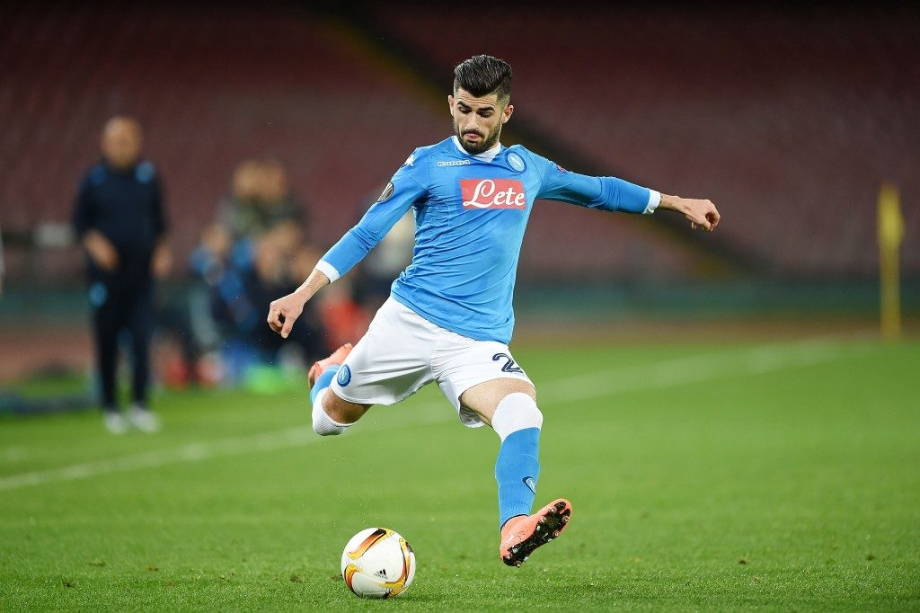 Napoli full-back Elseid Hysaj in action.