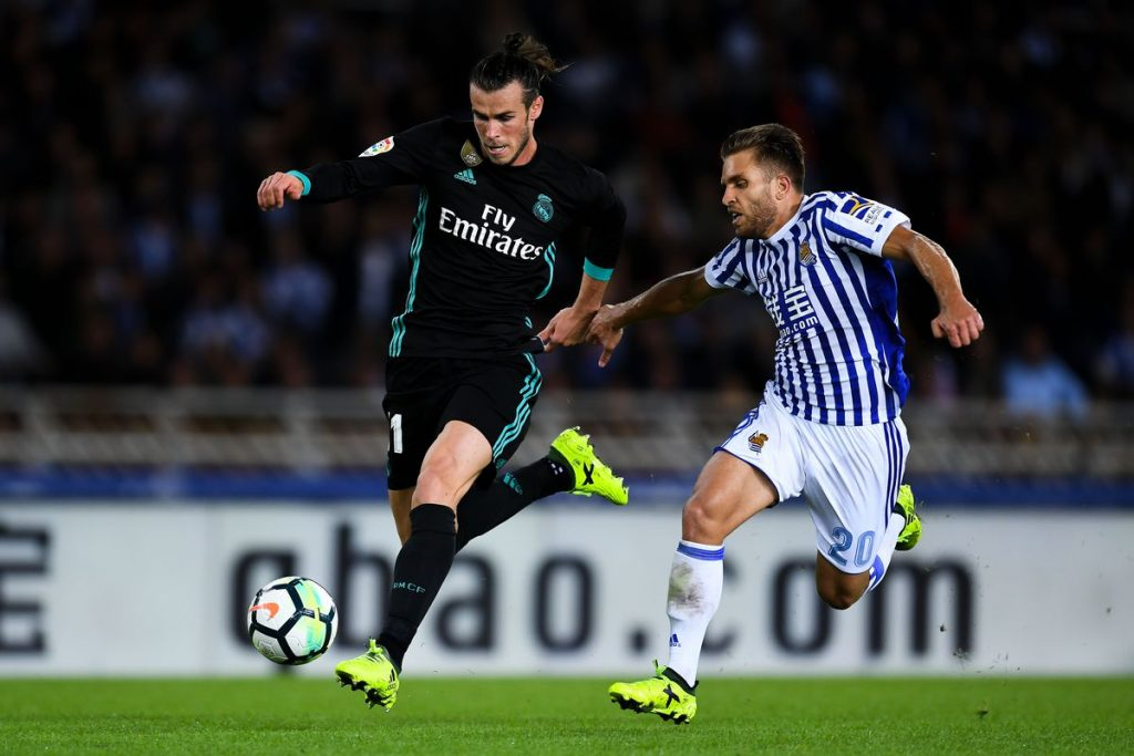 Gareth Bale in action during a La Liga encounter.
