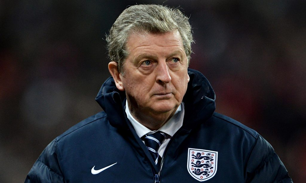 Roy Hodgson while managing the English national side.