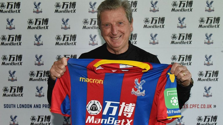 Roy Hodgson while appointed as Crystal Palace manager in 2017.