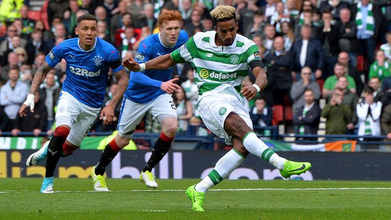 Celtic winger Scott Sinclair in action against Rangers. (Getty Images)
