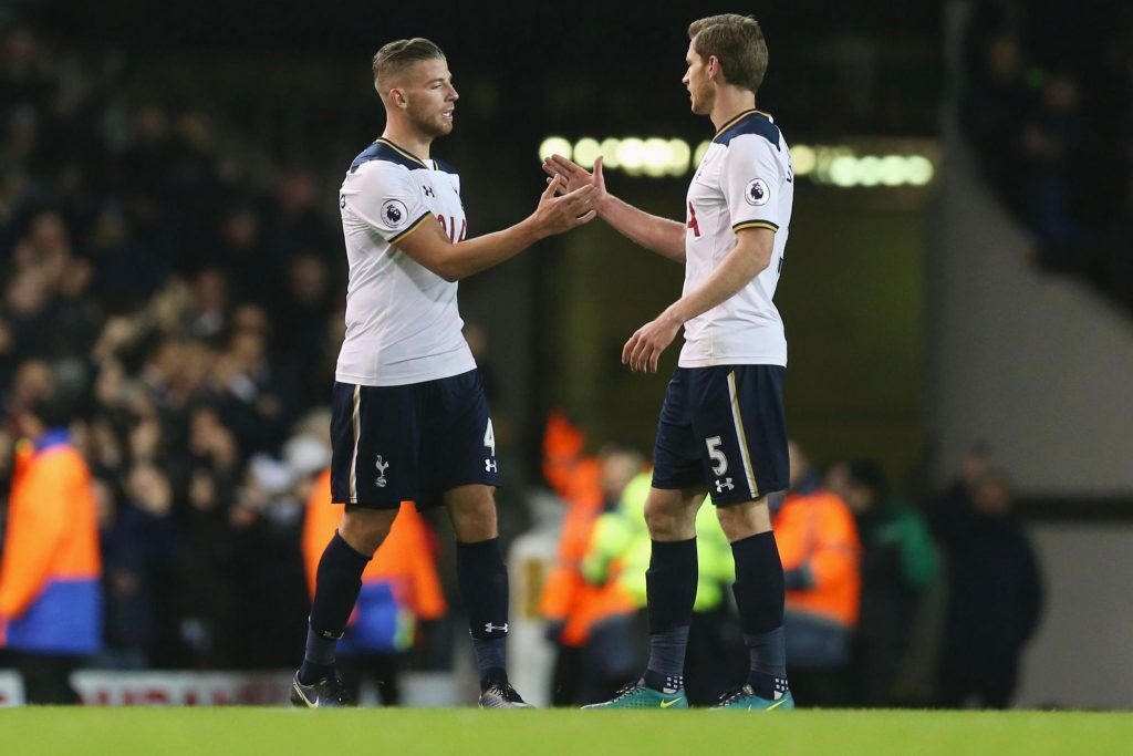 Toby Alderweireld (left) and Jan Vertonghen (right) of Tottenham
