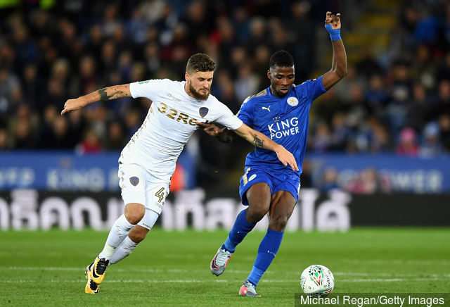Iheanacho in action for Leicester City.