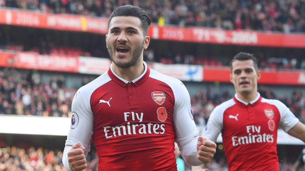 Arsenal left-back Sead Kolasinac remains ruled out due to injury.