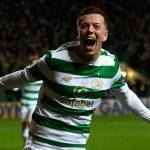Callum McGregor celebrates after scoring a goal for Celtic. (Getty Images)
