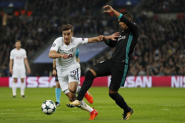 Harry Winks (L) in action for Tottenham against Real Madrid (Getty Images)