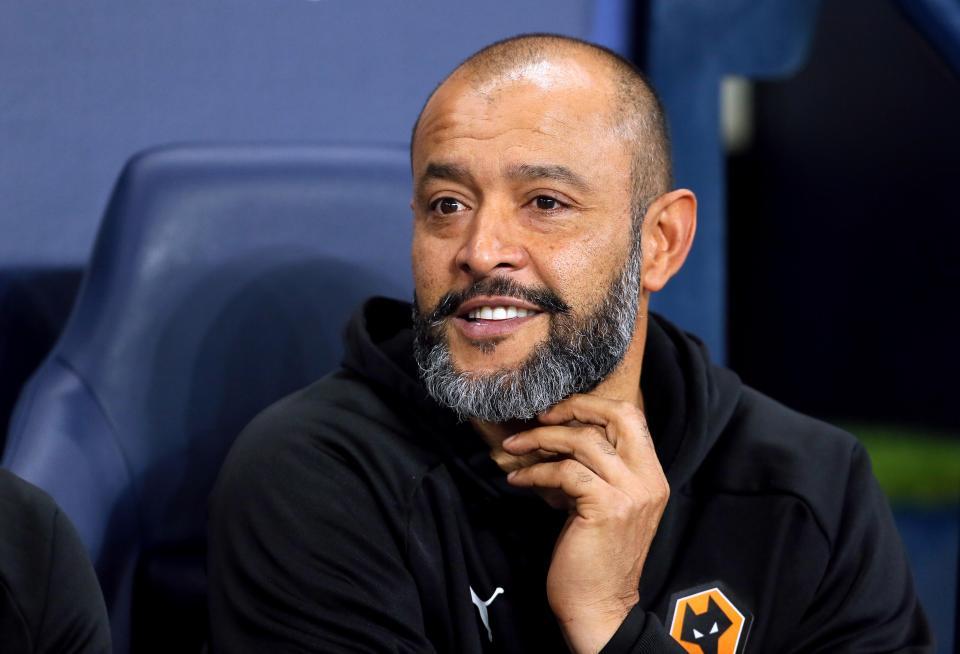 Wolves manager Nuno Espirito Santo.