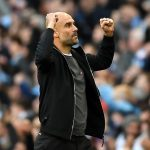 Manchester City manager Pep Guardiola during the 2018 Manchester derby. (Getty Images)