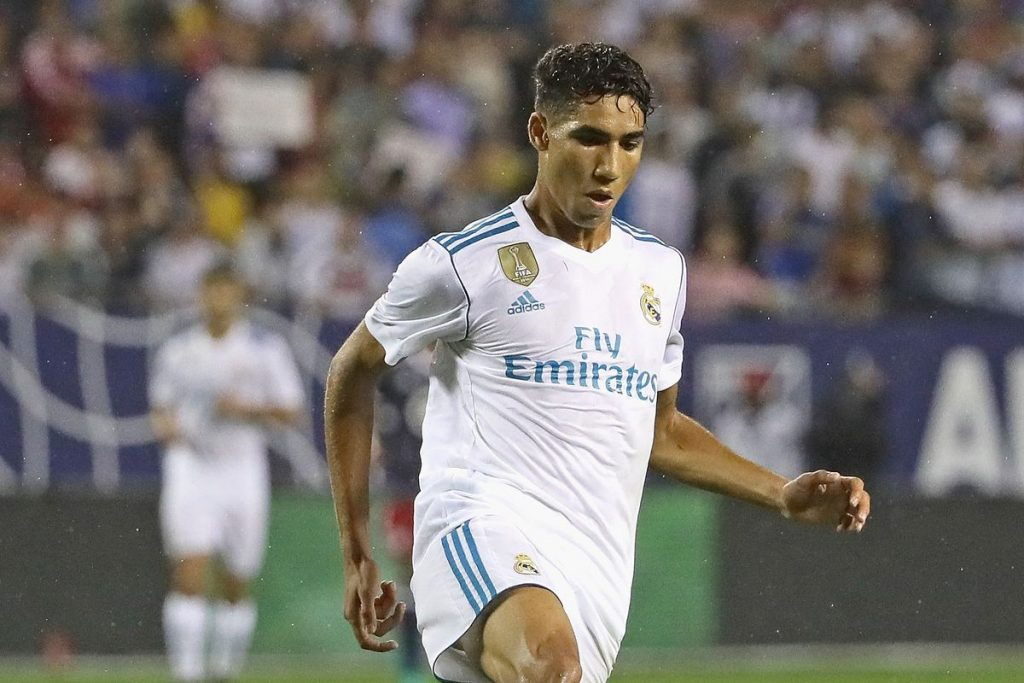 Achraf Hakimi while playing for Real Madrid.