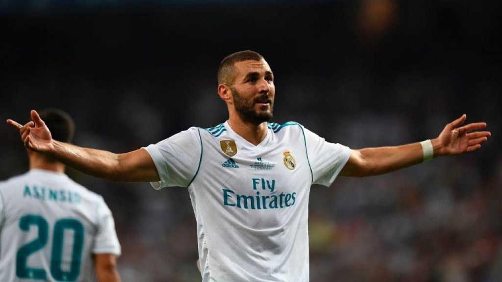 Real Madrid striker Karim Benzema in action. (Getty Images)