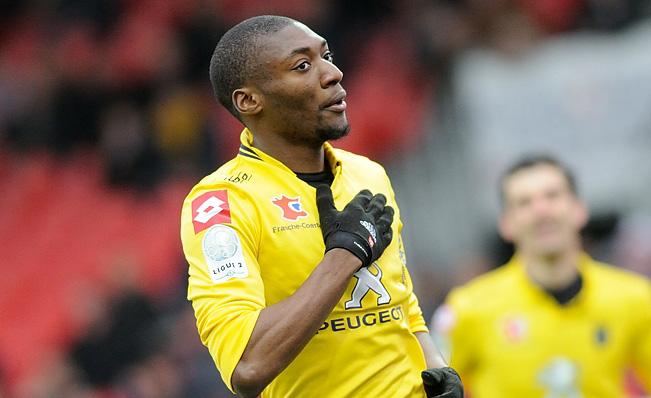 Villarreal striker Karl Toko Ekambi in action. (Getty Images)
