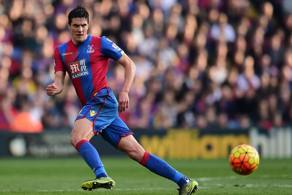 Palace full-back Martin Kelly in action.