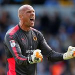 Wolves goalkeeper John Ruddy celebrates after the final whistle. (Getty Images)